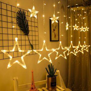 Led Lichterkette 12 Sternenvorhang led Lichtervorhang Weihnachten Weihnachten Weihnachtsbeleuchtung Lichtervorhang, Warmweiß