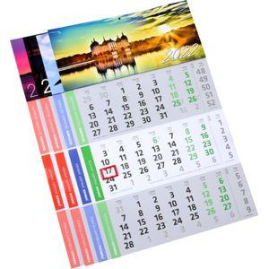 1 Stück 3 Monats Wandkalender 2021 Motiv Steg Officekalender