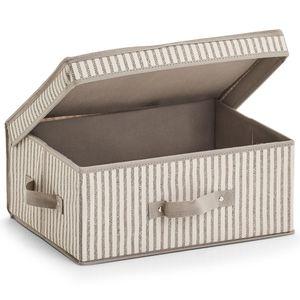 """Zeller Aufbewahrungsbox """"Stripes"""", Vlies, in verschiedenen Varianten Größe: 38x29x16.5cm"""