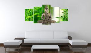 Wandbild - Buddha - Meditation, Größe:200 x 100 cm