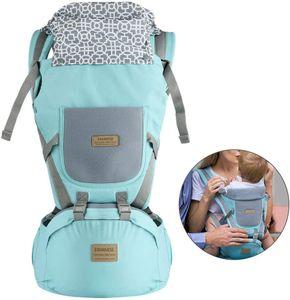9 in1 Ergonomische Babytrage Kindertrage Bauchtrage Rückentrage 4 Tragpositionen für Neugeborene Blau
