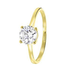 Solitär-Ring, 375 Gold -  50