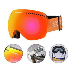 ROCKBROS Skibrille Snowboard Brille Ski Goggles UV400 Antifog Orange für Schnee