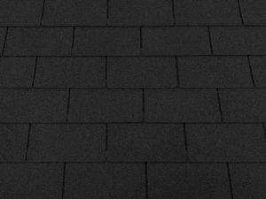 Isolbau Dachschindeln 27 m2 Rechteck Form Schwarz (9 Pakete) Schindeln Dachpappe Bitumen