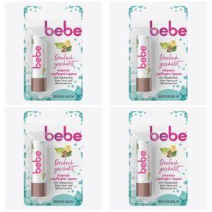 4 x Bebe Lipstick 3in1 Repair Balm Lippenpflegestift Lippenbalsam 4,9 g
