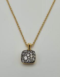 Joop! Damen-mit Anhänger JP-M Pavé 925 Silber teilvergoldet Zirkonia weiß 42 cm JPNL90769E420