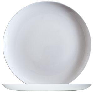 Arcoroc ARC L2810 Solutions Uni Pizzateller, 32cm, Opalglas, weiß, 6 Stück