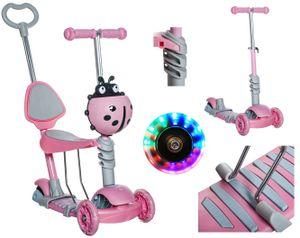Kinderroller Kickscooter Tretroller ab 3 Jahren bis 60 kg Mädchen Junge 10329, Farbe:Rosa/ pink