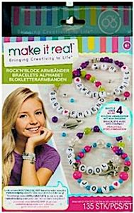 Make it real Block n'Rock Armbänder - Alphabet Letter Beads & Charms Armband