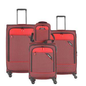 Travelite Derby Kofferset 4-tlg. rot 87540-10 Koffer mit 4 Rollen Weichgepäck