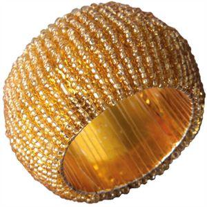 Glasperlen Serviettenring Ø4cm - Gold Gelbgold