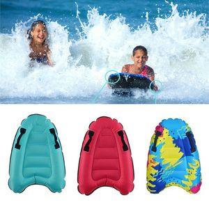 2 Stk Tragbare Aufblasbare Surf Body Board mit Griff Durable Schwimmen Schwimm Matte für Kinder