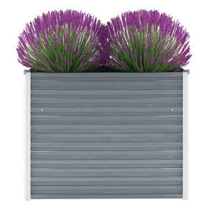 Garten-Hochbeet Verzinkter Stahl 100x40x77 cm Grau