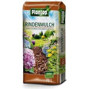 Plantop Rindenmulch Gärtner Qualität 10-40mm Dekormulch Garten-Mulch, 70 Liter