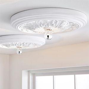 Deckenleuchte Stuck Deckenlampe Wohnzimmer Beleuchtung Flurleuchte Barock Stil