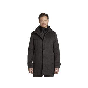 TOM TAILOR Wollmantel Winter Mantel Jacke wool coat NOS dark grey mini struc XL
