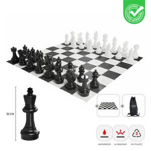 XL außen Schachspiel - König 30 cm - inkl. Matte und Tasche  Spitzenqualität
