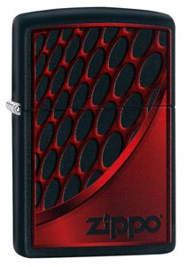 ZIPPO Feuerzeug 60003392 Red and Chrome black matte