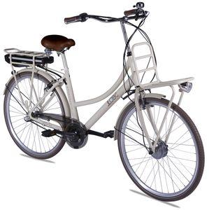 "LLobe E-Bike 28"" Rosendaal 2 Lady beige, Batterie 36V/15,6Ah, 3-Gang Shimano"