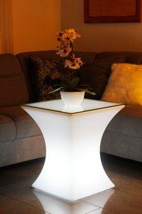 LED Tisch 62x53 cm Beistelltisch Loungetisch