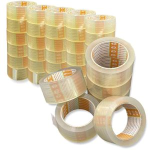 Printation 36er Profi Packband Set 50mm x 66m Paket Klebeband transparent strong reißfest stark klebend
