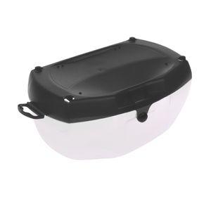 Hartschalenetui Brillenbox Brillenetui groß Grau 19,4 x 11,8 x 9 cm