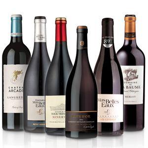 Weinselektion 'Languedoc' (6 x 0,75 l) - Probierset mit trockenen französischen Weißweinen und Rotweinen, Paket mit:6 Flaschen