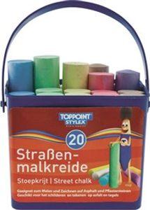 Stylex 48104 Straßenmalkreide im Eimer, 20 Stangen