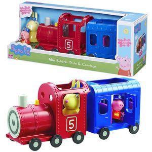 Eisenbahn | Spielset | Peppa Wutz | Peppa Pig | mit Figur Peppa & Frau Mümmel