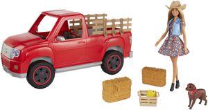 """Barbie """"Spaß auf dem Bauernhof"""" Fahrzeug mit Puppe"""