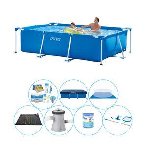 Intex Frame Pool Rechteckig 260x160x65 cm - Schwimmbadpaket