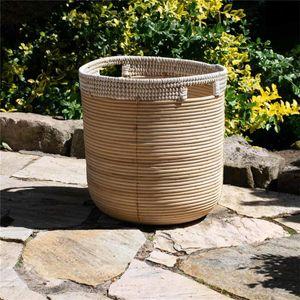 BOURGH Korb RATESCH, Durchmesser 40 cm, aus Rattan und Seegras