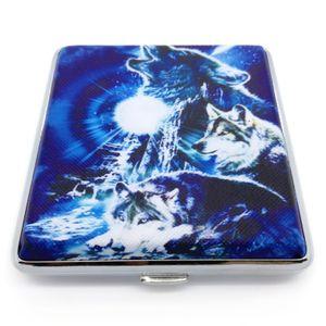 Zigarettenetui für 20 Filterzigaretten Wolf 6 Blau