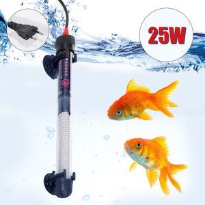 Aquarium Heizung Tauchautomatik-Heizung Aquarium Wasserkocher 25W Einstellbare Temperatur mit Saugnaepfen