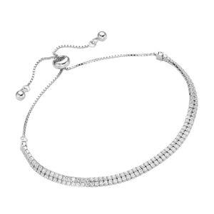 Armband Smart Jewel Tennisarmband 2-rhg., Silber 925 Weiss Onesize