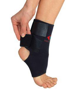Fußgelenkbandage Klettverschluss Neopren Fuß Bandage Sport schwarz 4-XL