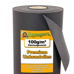 Aquagart 10m² Gartenvlies Unkrautvlies Mulchvlies 100g 1,6m br.