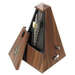 MECO Vintage Metronom Holzfarbe Musik Timer Mechanisches Metronom für Gitarre/Bass/Klavier/Violine Track Beat und Tempo mit lautem Sound und hoher Präzision