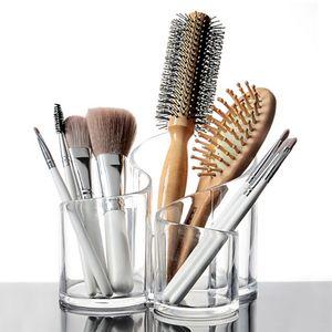 Transparenter Kosmetik Display Ständer aus Acryl Make-Up Pinsel Halter Aufbewahrungsständer Schminkpinsel Organizer