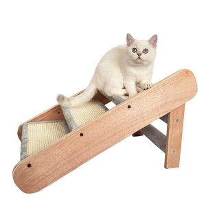 Katzentreppe und Hundetreppe Rampe 2-in-1,klappbar Drei Stufen,Holz+MDF