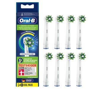 Oral-B Aufsteckbürsten - CrossAction CleanMaximizer - 8er Pack - weiß