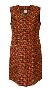 Knopfkittel Baumwolle Hauskleid Kittel Schürze , Größe:42