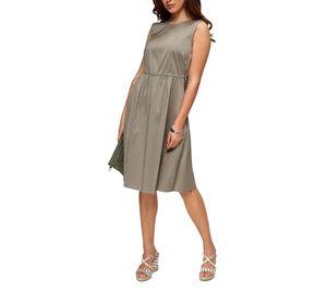 DANIEL HECHTER Midi-Kleid schickes Damen Ausgeh-Kleid mit Rundhalsausschnitt Khaki, Größe:36