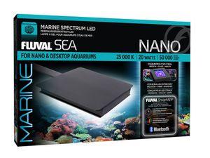 Fluval Nano Marine LED 12,7x12,7cm Aquariumlampe Sonnenaufgang u.v.m. Handy APP