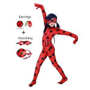 Mädchen Marienkäfer Kostüm Kostüm Kostümrock Weltlesetag Superhelden-Kinder HalloweenLadybug Cosplay Strumpfhose Marienkäfer Ohrringe, 140