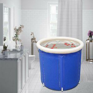 70*70cm Blau Dampfbad Sauna SPA Aufblasbare Badewanne Faltbar Reisebadewanne Klappbar PVC Bad Accessoires Baby Erwachsene Badeeimer Folding Außen Badewan Wannenbad