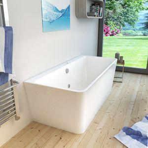 AcquaVapore freistehende Badewanne FSW15 170 x 80 x 58 cm Whirlpool Luftmassage