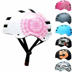 SkullCap® Fahrrad- BMX & Skaterhelm für Erwachsene, Design: Mandala, Größe: M