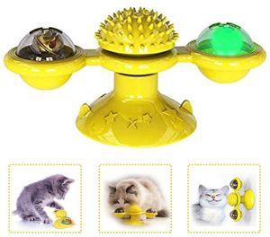 Katzenspielzeug,katzenspielzeug windmühle, interaktives necken Katzenspielzeug, Windmühle Plattenspieler necken Katzenspielzeug kratzen Haustierzubehör Verrücktes Spiel— QingShop