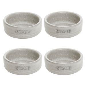 DIPSCHALE 4 Stück Keramik Snackschale Dipschälchen Grau STAUB Dining